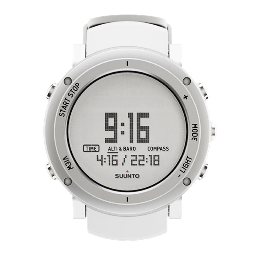 Часы спортивные Suunto Core Alu, цвет: белыйSS018735000Удостоенные наград часы Suunto Core Alu оснащены удобными функциями для активного отдыха, заключенными в прочный корпус. Совмещая в себе альтиметр, барометр, компас и сведения о погоде, часы Suunto Core Alu готовы предоставить исследователям все необходимые функции для великих приключений. Эти часы специально созданы, чтобы пробудить в каждом тягу к исследованиям. Основные функции: Альтиметр. Барометр. Компас. Термометр. Штормовое предупреждение. Время восхода/захода солнца. Глубиномер для подводного плавания с трубкой. Многофункциональные часы с отображением даты и времени. Сменная батарея. Меню на нескольких языках (английском, французском, немецком, испанском).