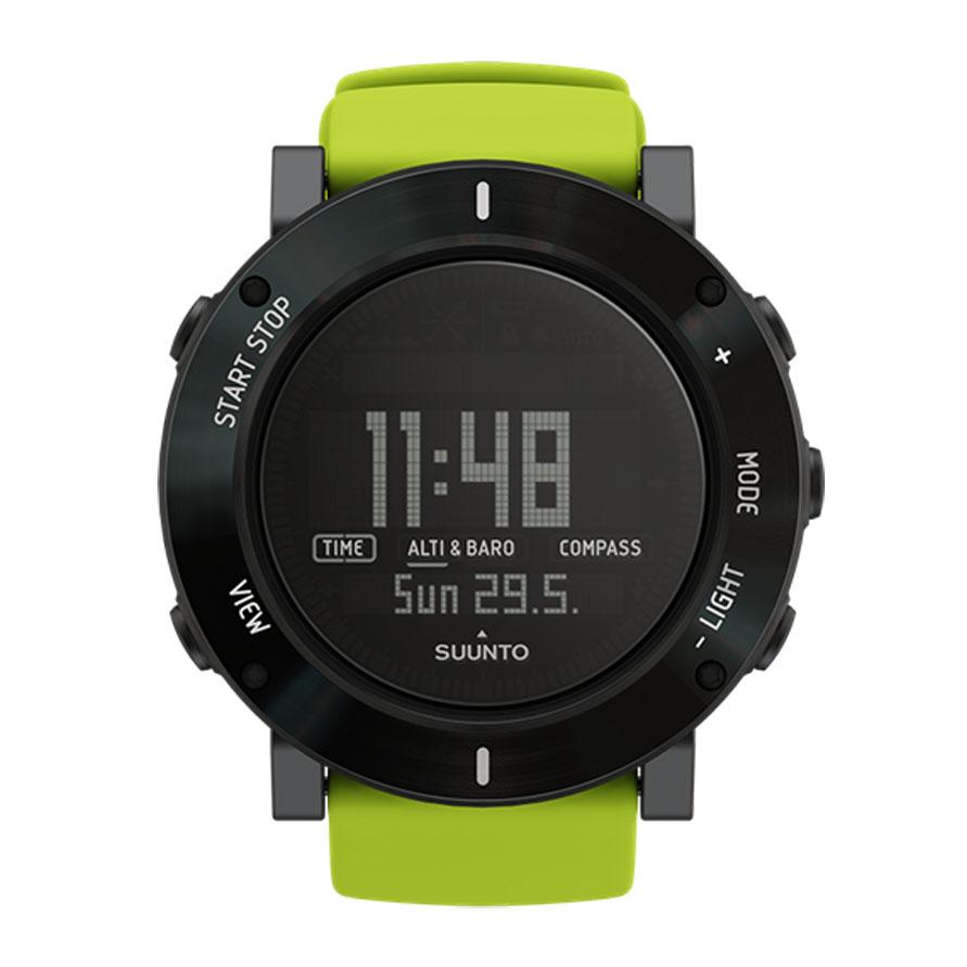 Часы спортивные Suunto Core Crush, цвет: лаймSS020693000Удостоенные наград часы серии Suunto Core оснащены удобными функциями для активного отдыха, заключенными в прочный корпус. Совмещая в себе альтиметр, барометр, компас и сведения о погоде, часы Suunto Core готовы предоставить исследователям все необходимые функции для великих приключений. Эти часы специально созданы, чтобы пробудить в каждом тягу к исследованиям. Основные функции: Альтиметр. Барометр. Компас. Термометр. Штормовое предупреждение. Время восхода/захода солнца. Глубиномер для подводного плавания с трубкой. Многофункциональные часы с отображением даты и времени. Сменная батарея. Меню на нескольких языках (английском, французском, немецком, испанском).