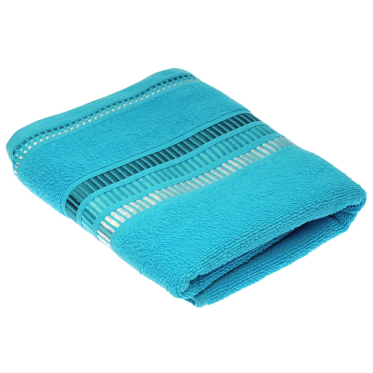 """Полотенце махровое Coronet """"Пиано"""", цвет: бирюзовый, 50 см х 90 см"""