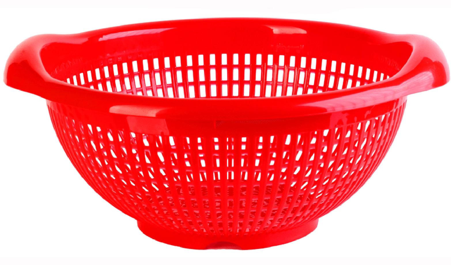 Дуршлаг круглый, КрасныйМ 1131Дуршлаг круглый, Красный