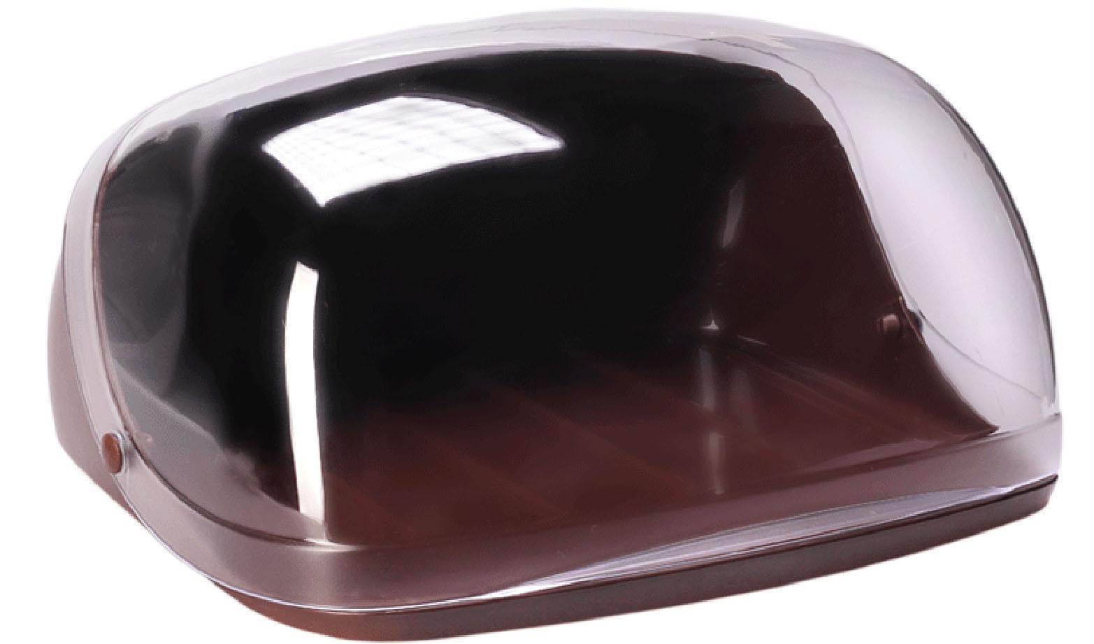 "Idea (М-пластика) Хлебница Idea ""Кристалл"", цвет: коричневый, прозрачный, 40 х 29 х 16 см М 1181"