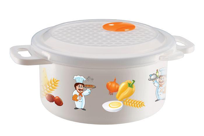Емкость 0,9л для холодильника и микроволновой печи с декоромС11727Емкость 0,9л для холодильника и микроволновой печи с декором