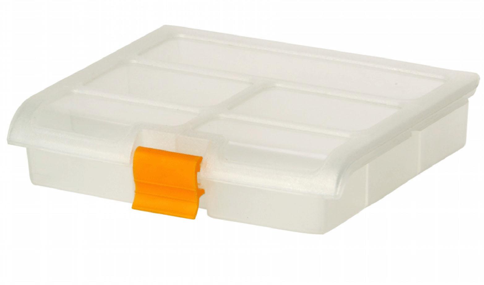 Блок для мелочей Idea, 16,5 см х 13,5 см х 3,5 смМ 2951Блок Idea, выполненный из пластика, предназначен для хранения различных мелочей. Все внутреннее пространство блока разделено на 5 ячеек. Блок для мелочей Idea подходит для упорядоченного хранения принадлежностей для рукоделия, материалов для ремонта и строительства, рыболовных снастей, канцелярских товаров, медицинских препаратов. Случайное раскрытие крышки исключается благодаря надежной защелке. Размер ячеек: 14,5 см х 3,5 см, 2 х 7 см х 4 см, 2 х 7 см х 3,5 см.