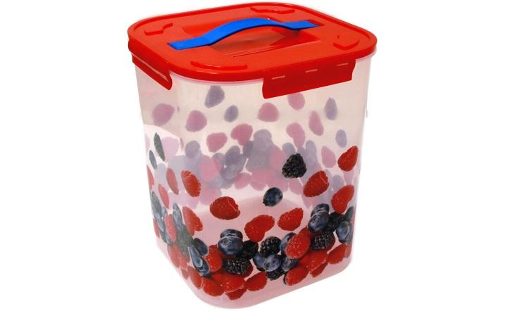 Контейнер для хранения ДЕКО 10л, ягодыМ 2829Контейнер для хранения ДЕКО 10л, ягоды
