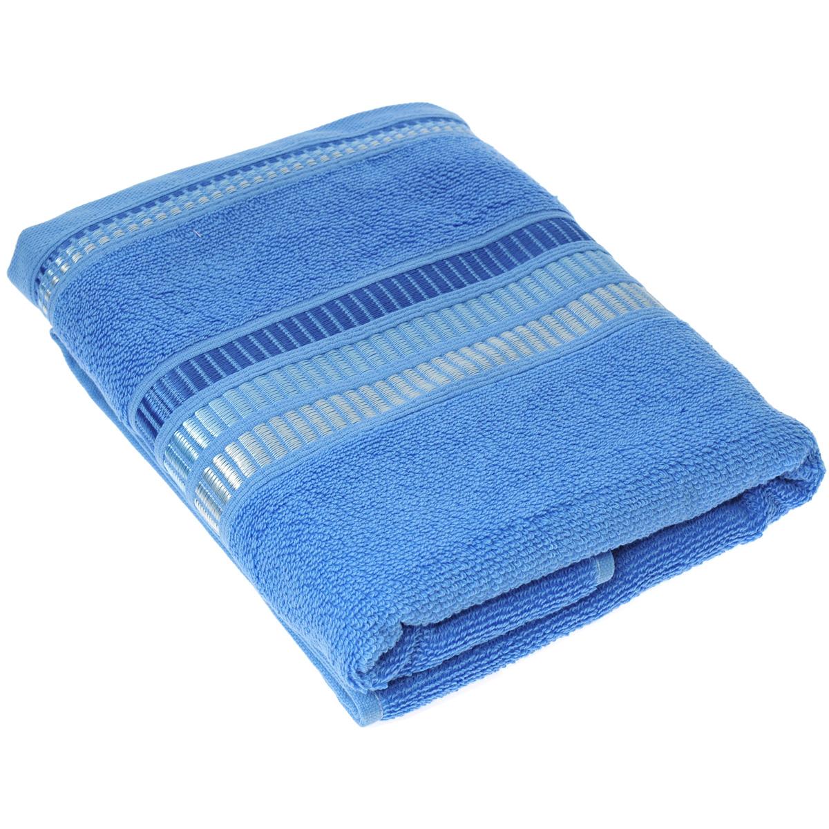 """Полотенце махровое Coronet """"Пиано"""", цвет: голубой, 50 х 90 см Б-МП-2020-01-07"""