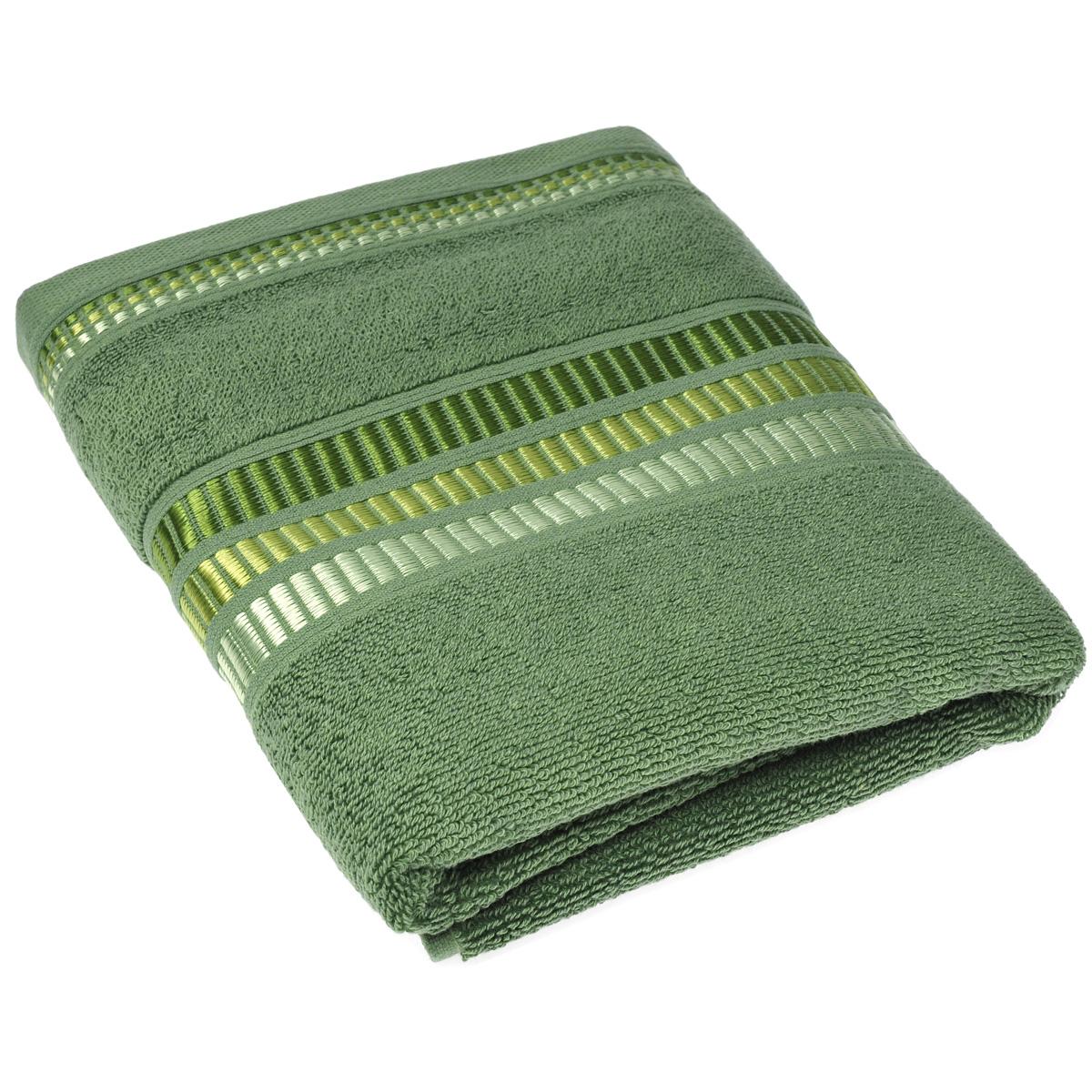 """Полотенце махровое Coronet """"Пиано"""", цвет: зеленый, 50 х 90 см"""