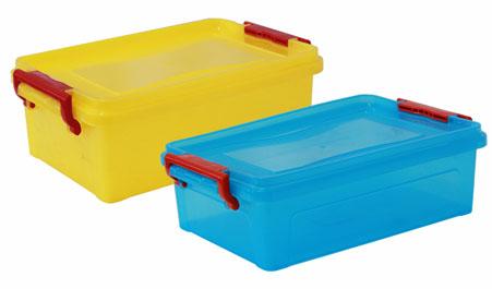 Контейнер 25л для хранения прямоугольный, Микс (разноцветный)М 2867Контейнер 25л для хранения прямоугольный, Микс (разноцветный)