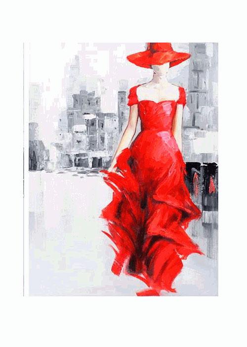 Картина Девушка в красном платье. Холст. Масло. 2000-е годыПКПСЛПКартина Девушка в красном платье. Холст. Масло. 2000-е годы. Размер 60 х 80 см. Сохранность хорошая.