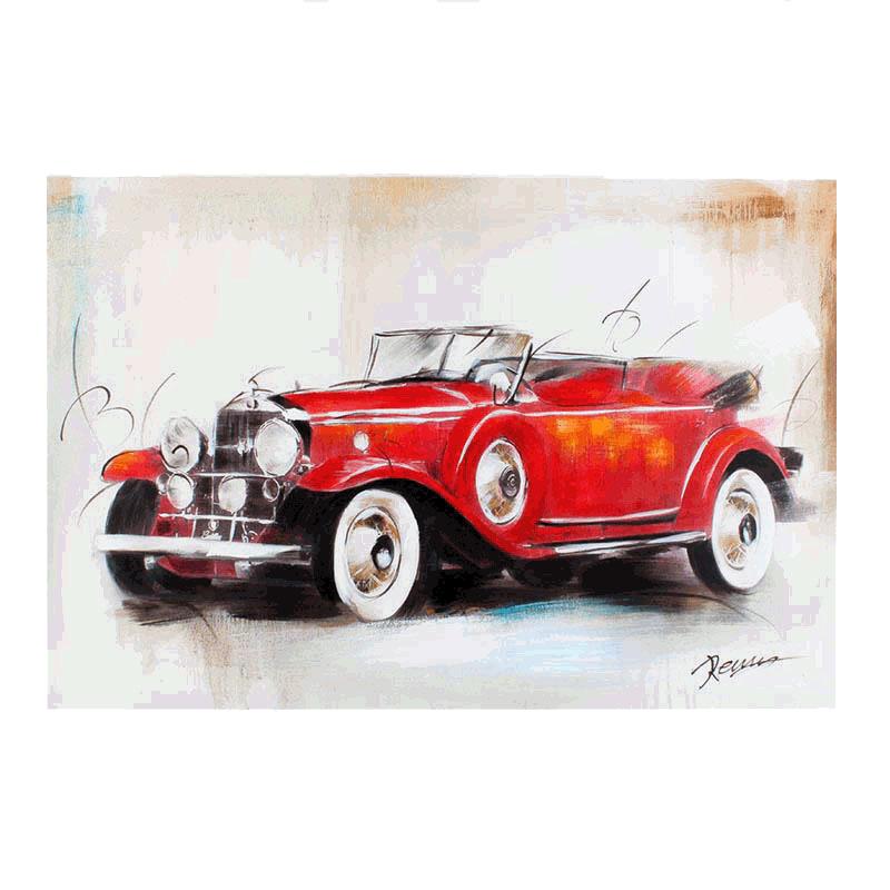 Картина Ретро автомобиль. Масло, холст, деревянная рама. 2000-е годыПКПСЛПКартина Ретро автомобиль. Масло, холст, деревянная рама. 2000-е годы. Размер 60 х 2,5 х 90 см. Сохранность отличная. Изделие не было в использовании.