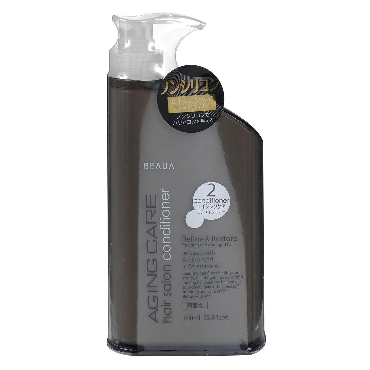 Beaua Кондиционер для волос Aging Care, антивозрастной, 700 мл017436Кондиционер позволяет комплексно ухаживать за волосами, сохраняя природный блеск, здоровье волос. Волосы защищены от негативного воздействия окружающей среды, от влияния ультрафиолета. - Маточное молочко – содержит много витаминов, особенно группы В, аминокислот, высокоактивных веществ, которые характеризируют его как биокатализатор жизненных процессов. В молочке выявлено много ферментов (инвертаза, амилаза, глюкозооксидаза, холинестераза и другие), биоптерин, карбоновые и оксикарбоновые кислоты. Большое значение имеют макро- и микроэлементы, которые содержатся в сравнительно больших количествах (калий, натрий, кальций, фосфор, магний, железо, марганец, медь, никель, кобальт, кремний, хром, висмут). Благодаря такому богатому составу, шампунь на основе маточного молочка оздоравливает и омолаживает волосы, восстанавливая их жизненную силу и улучшает рост. - Гидролизованные протеины шелка - это биологически активные вещества, которые получают методом гидролиза из...