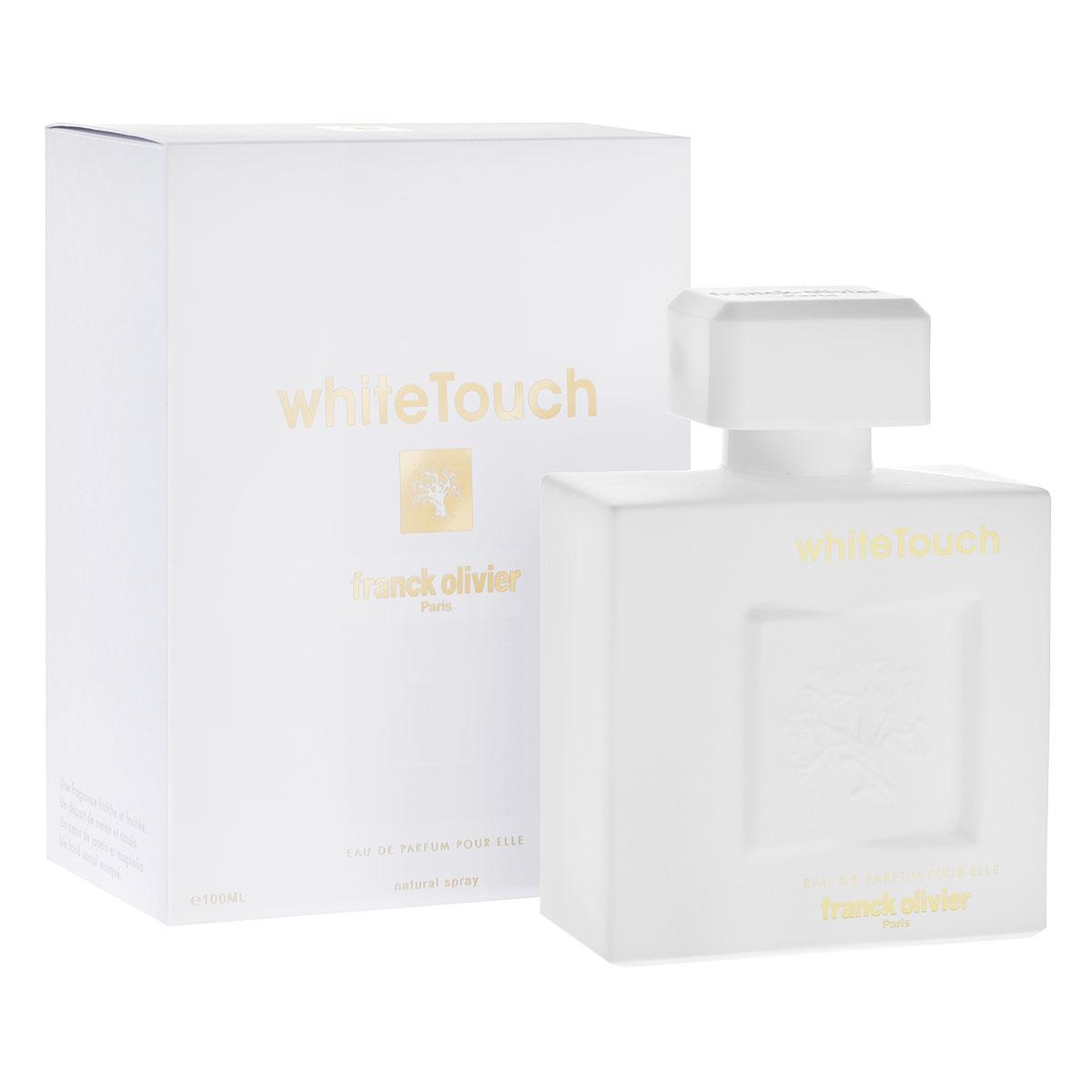"""Franck Olivier Парфюмерная вода White Touch, женская, 100 мл45341Известный бренд Franck Olivier выпустил новый аромат """"White Touch"""". На этот раз в фокусе внимания - экзотический цветочный букет как символ женственности и романтического настроения. Хрупкий цветок в прозрачных аккордах White Touch напоминает нам об эфемерности и бесконечной красоте бытия, заключенной в совершенстве форм и тончайшей сладости аромата. Цветочное созвучие, раскрашенное переплетением оттенков характеров, звуков и голосов, сливается в стройную симфонию, исполняемую на разных инструментах. Каждый найдет для себя в этой симфонии что-то свое. Кто-то услышит прохладное дыхание фрезии в объятьях красавицы розы, кто-то будет очарован терпким контральто чувственной даваны и звучащей ей в унисон фиалки. В хороводе прозрачных оттенков вырисовывается танцующий силуэт чарующей женственности и красоты. Попробуйте примерить ароматный цветочный наряд """"White Touch"""" от Franck Olivier. Классификация аромата : мягкий цветочный. Пирамида..."""