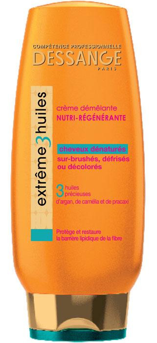 Dessange Крем для волос Extreme, 3 масла, экстремальное восстановление, для сильно поврежденных волос, 200 млD1117502Крем для волос Dessange Extreme. 3 масла разработан специально для сильно поврежденных волос. Входящие в его состав масло Арганы, Камелии и масло дерева Pracaxi восстанавливают липидный барьер волокна волоса, поврежденный даже такими экстремальными средствами как пересушивание, обесцвечивание, выпрямление, питают волосы и защищают от дальнейших повреждений. Объем: 250 мл. Товар сертифицирован.
