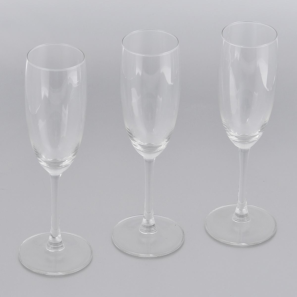 Набор бокалов для шампанского Royal Leerdam Gourmet, 180 мл, 3 шт553710Набор Royal Leerdam Gourmet состоит из 3 бокалов, выполненных из высококачественного стекла. Бокалы предназначены для подачи шампанского. Набор бокалов прекрасно оформит сервировку стола и создаст в доме атмосферу праздника и уюта. Можно мыть в посудомоечной машине.