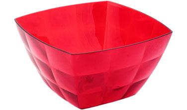 Салатник Idea Квадро, цвет: красный, 750 млМ 1355Салатник Idea Квадро изготовлен из высококачественного пластика и предназначен для сервировки стола. В таком салатнике можно подать к столу конфеты, небольшие фрукты, различные салаты. Салатник Idea Квадро станет прекрасным дополнением к коллекции вашей кухонной посуды.