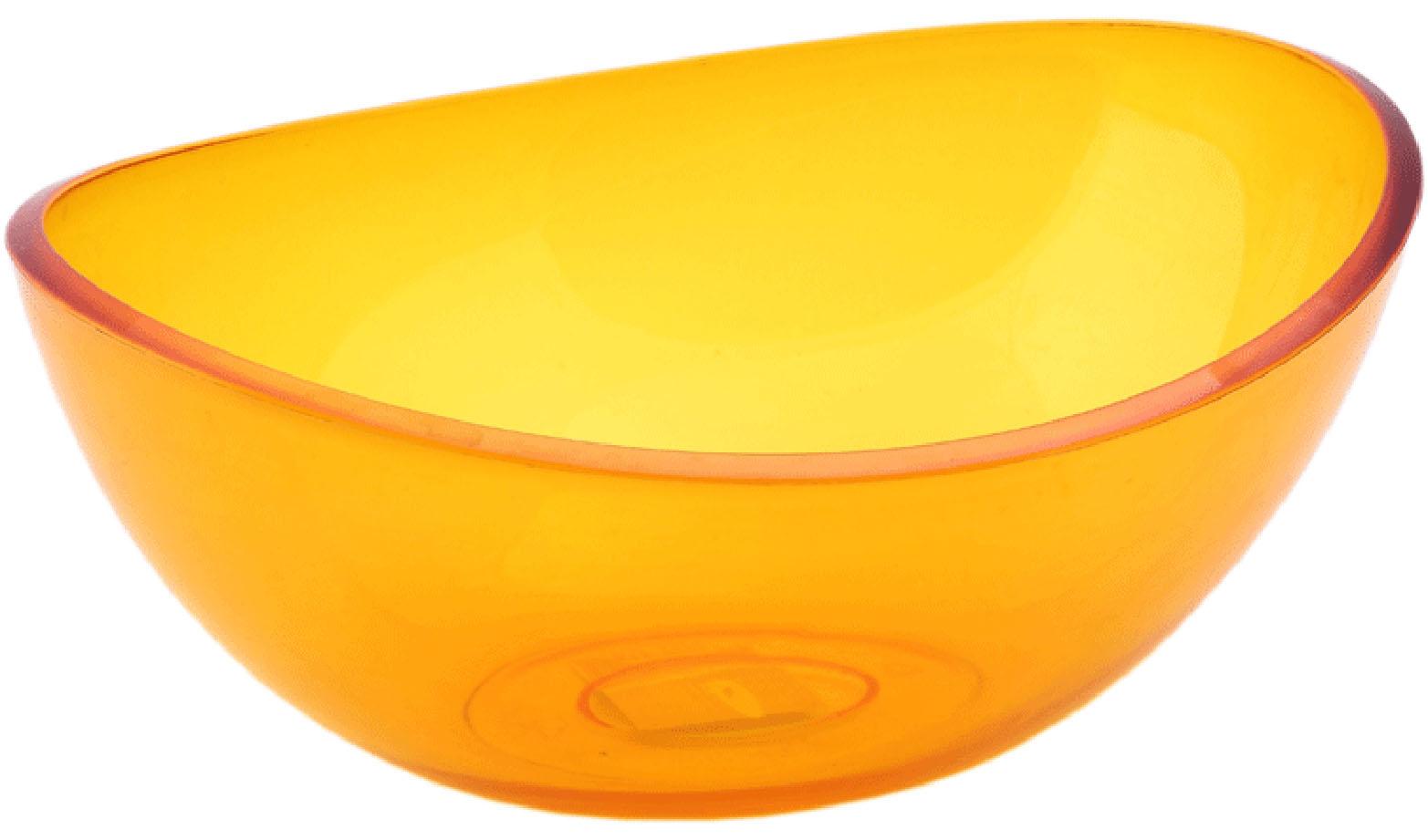 Салатник Idea Кристалл, цвет: оранжевый, прозрачный, 2,5 лМ 1352Салатник Idea Кристалл изготовлен из высококачественного пищевого полистирола. Такой салатник прекрасно подойдет для сервировки салатов, фруктов, ягод. Прекрасный вариант для дачи и отдыха на природе. Объем: 2,5 л . Размер (по верхнему краю): 27 см х 21,5 см. Высота стенки: 10 см.