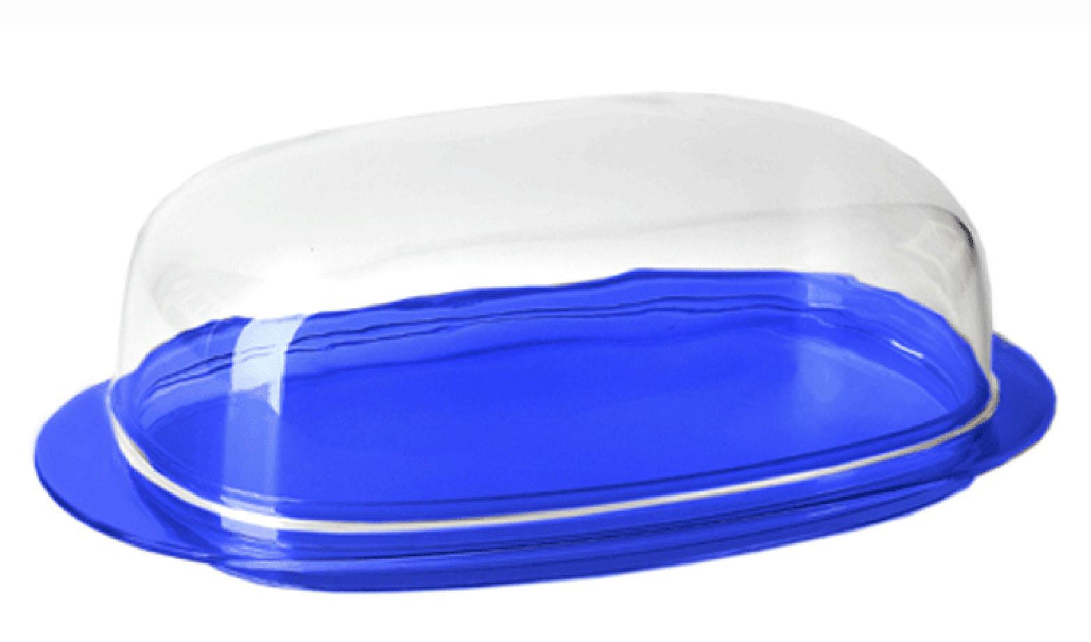 Масленка Кристалл, Синий прозрачныйМ 1126Масленка Кристалл, Синий прозрачный