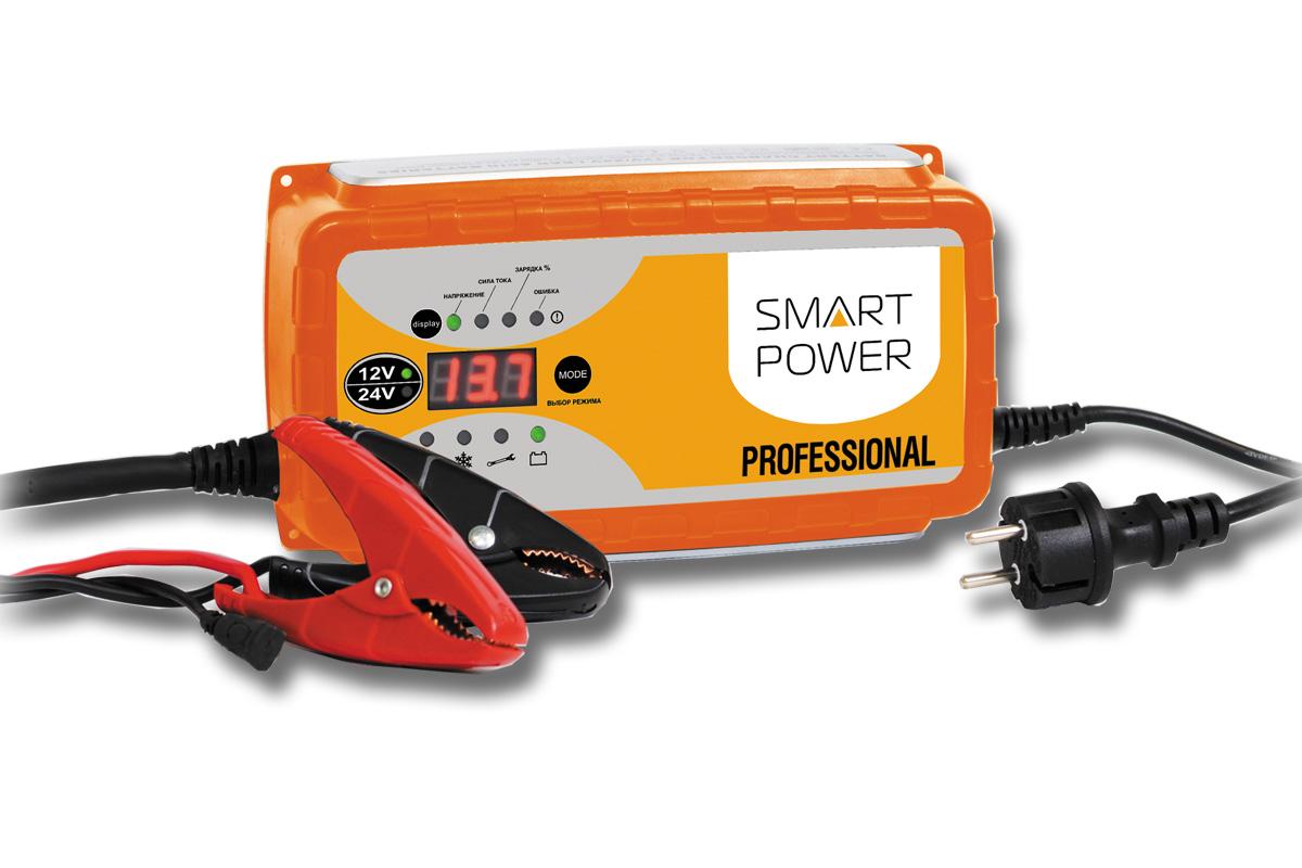 Устройство зарядное для автомобилей Berkut Smart PowerSP-25NЗарядное устройство Berkut Smart Power предназначено для обслуживания и быстрой зарядки всех типов аккумуляторных батарей 12В и 24В, используемых в легковых и грузовых автомобилях, строительной и другой специальной технике. Функциональные особенности: Микропроцессорное электронное управление. Автоматический выбор стадий заряда. Для всех типов 12В и 24В свинцово-кислотных АКБ (в том числе необслуживаемых MF, клапанно-регулируемых VRLA, с пористым сорбентом из стекловолокна AGM, а также WET, GEL, Calcium type). Поэтапная программа быстрого и бережного заряда в 9 стадий. Память последнего режима заряда при отключении питания. 4 режима работы устройства на выбор, включая режим восстановления - десульфатацию, а также режим источник питания. Диагностическое табло с выводом информации о состоянии АКБ, величинах зарядного тока и напряжения, а также ошибках. Контрольный датчик температуры заряжаемого АКБ и окружающей среды для корректировки...