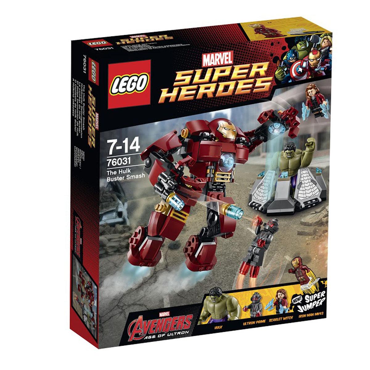 LEGO Super Heroes Конструктор Разгром Халкбастера 7603176031Халк попал в плен к Альтрону, и он готов выпустить в него электрическую стрелу, как только он попытается сбежать! Помести Железного человека в кабину костюма Халкбастера и беги на спасение! По пути тебе придется отражать атаки Альтрона с воздуха. Меняй положение рук и ног Халкбастера, принимая боевые позы, и хватай злодеев мощными руками! Надежно удерживая Альтрона в механических руках, прикрепи Железного человека к супер-джамперу. Избавься от Альтрона точным прыжком и освободи Халка! Этот красочный игровой набор содержит 248 пластиковых элементов для сборки, 3 фигурки и инструкцию по сборке. Конструктор - это один из самых увлекательнейших и веселых способов времяпрепровождения. Ребенок сможет часами играть с конструктором, придумывая различные ситуации и истории. В процессе игры с конструкторами LEGO дети приобретают и постигают такие необходимые навыки как познание, творчество, воображение. Обычные наблюдения за детьми показывают, что...
