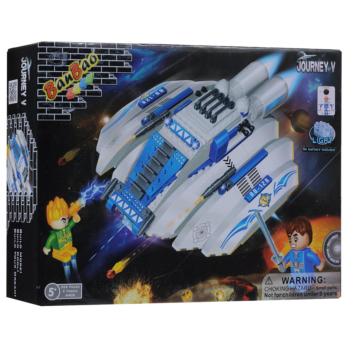 BanBao Конструктор Космический летательный аппарат 64086408Конструктор BanBao Космический летательный аппарат привлечет внимание вашего ребенка. Он содержит пластиковые элементы, из которых ребенок без труда сможет собрать космический летательный аппарат. Также в наборе 2 фигурки и схематичная инструкция по сборке. В аппарат можно поместить одну из фигурок. Также летательный аппарат оснащен светящимся при включении элементом. Ребенок сможет часами играть с этим конструктором, придумывая разные истории и комбинируя детали. Игры с конструкторами помогут ребенку развить воображение, внимательность, пространственное мышление и творческие способности. Необходимо докупить 2 батарейки напряжением 1,5V типа LR41 (не входят в комплект).