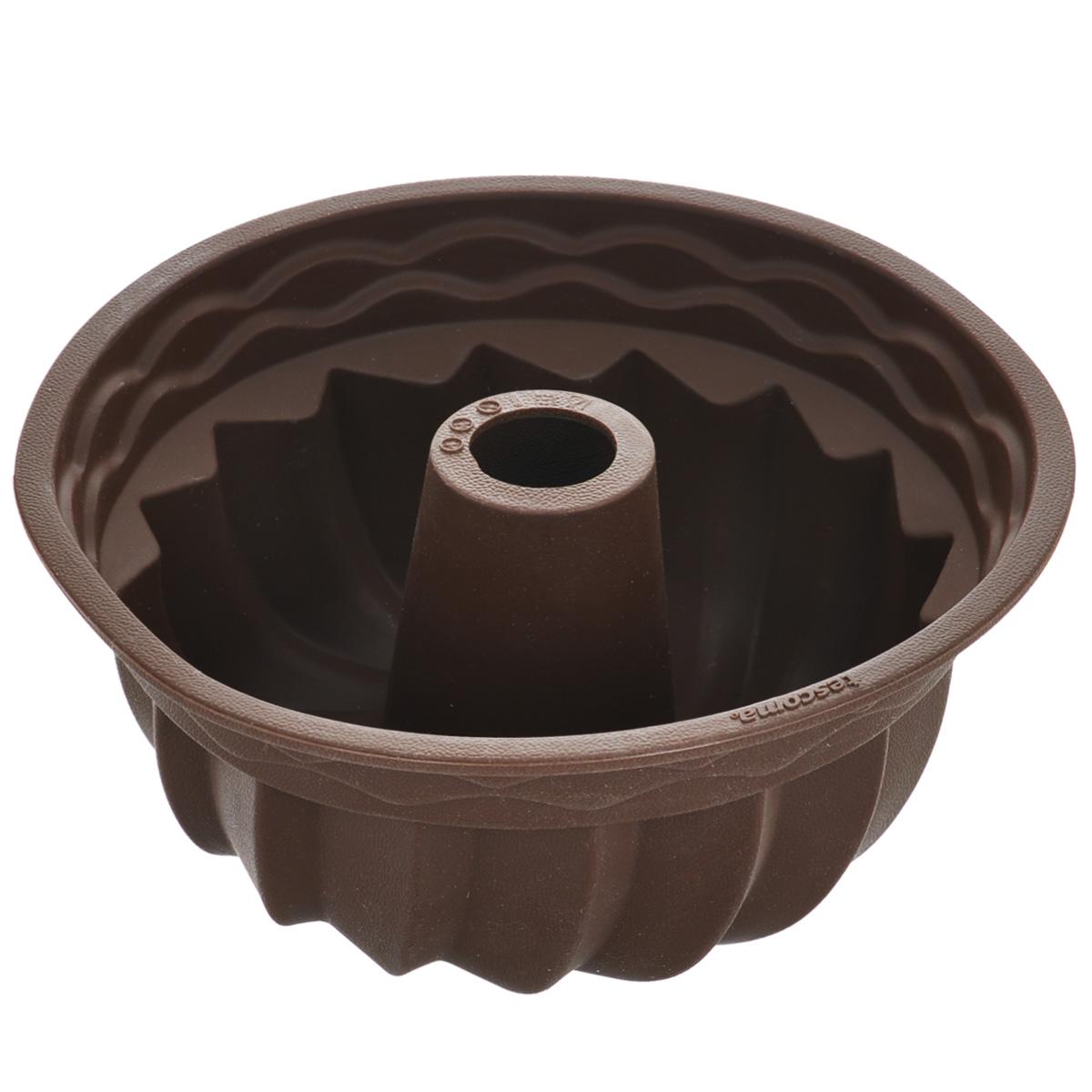 Форма для выпечки кекса Tescoma Delicia Silicone, круглая, цвет: коричневый, диаметр 24 см629224Круглая форма Tescoma Delicia Silicone будет отличным выбором для всех любителей выпечки. Благодаря тому, что форма изготовлена из силикона, готовую выпечку вынимать легко и просто. Стенки формы оснащены рельефной поверхностью. Форма прекрасно подходит для выпечки кексов. С такой формой вы всегда сможете порадовать своих близких оригинальной выпечкой. Материал изделия устойчив к фруктовым кислотам, может быть использован в духовках, микроволновых печах, холодильниках и морозильных камерах (выдерживает температуру от -40°C до 230°C). Антипригарные свойства материала позволяют готовить без использования масла. Можно мыть и сушить в посудомоечной машине. При работе с формой используйте кухонный инструмент из силикона - кисти, лопатки, скребки. Не ставьте форму на электрическую конфорку. Не разрезайте выпечку прямо в форме.