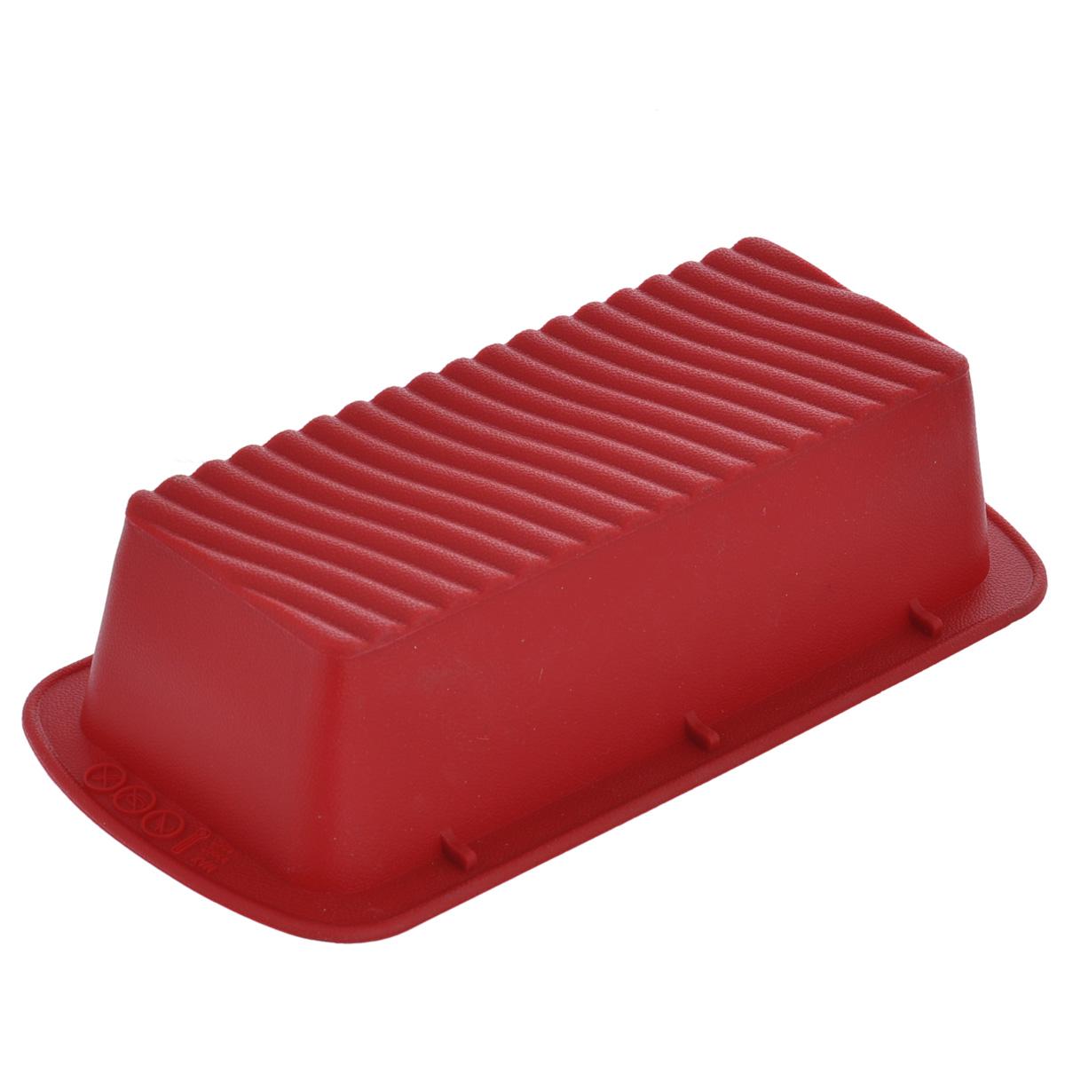 Форма для выпечки хлеба Tescoma Delicia Silicone, прямоугольная, цвет:красный, 27 х 13,5 см629244Прямоугольная форма Tescoma Delicia Silicone будет отличным выбором для всех любителей выпечки. Благодаря тому, что форма изготовлена из силикона, готовую выпечку вынимать легко и просто. Изделие оснащено удобными ручками и рельефным дном. Форма прекрасно подходит для выпечки хлеба и рулетов. С такой формой вы всегда сможете порадовать своих близких оригинальной выпечкой. Материал изделия устойчив к фруктовым кислотам, может быть использован в духовках, микроволновых печах, холодильниках и морозильных камерах (выдерживает температуру от -40°C до 230°C). Антипригарные свойства материала позволяют готовить без использования масла. Можно мыть и сушить в посудомоечной машине. При работе с формой используйте кухонный инструмент из силикона - кисти, лопатки, скребки. Не ставьте форму на электрическую конфорку. Не разрезайте выпечку прямо в форме.