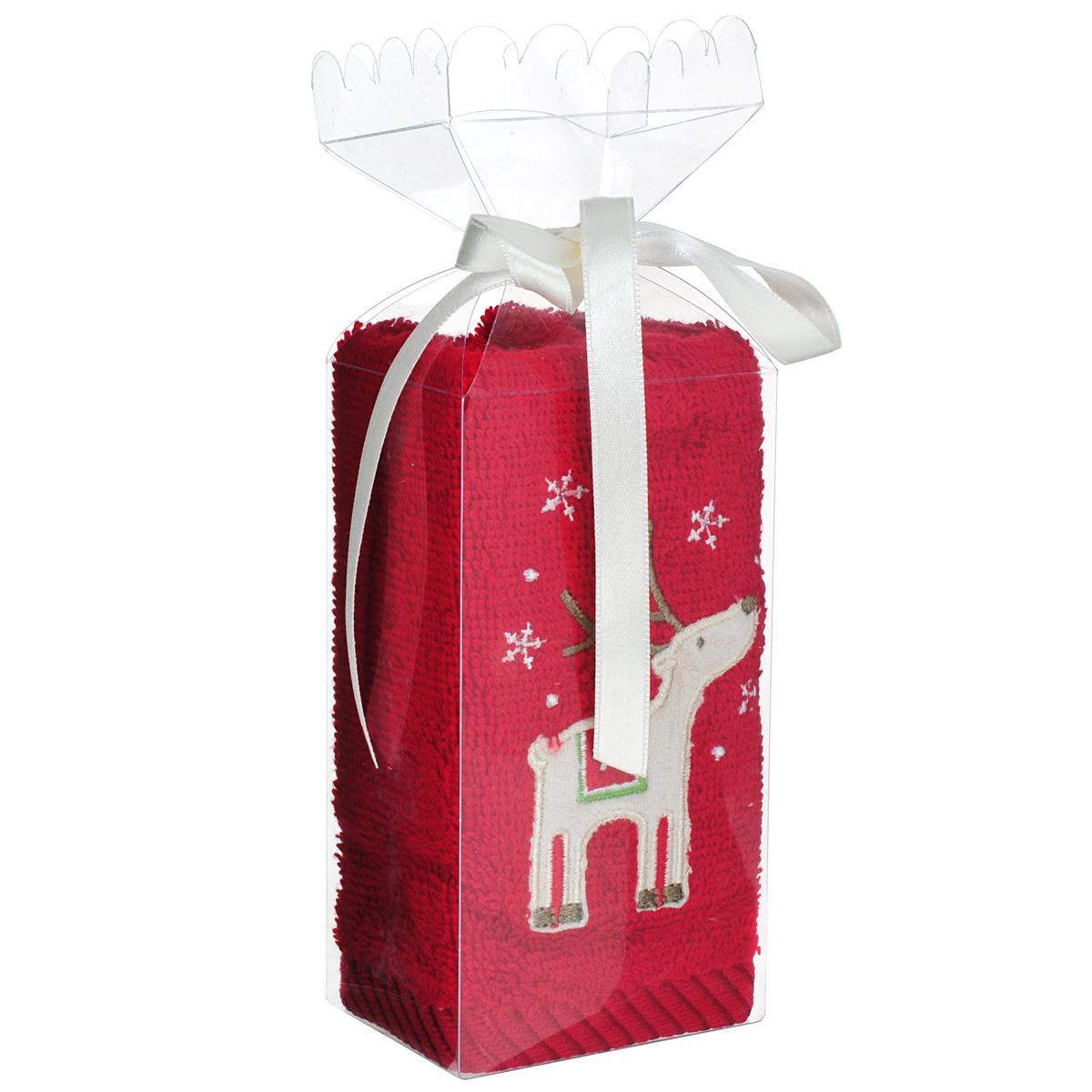 Подарочное полотенце Coronet, с вышивкой, цвет: красный, 30 см х 45 смК-МП-4212-11-01Махровое полотенце Coronet, изготовленное из натурального хлопка и и украшенное вышивкой, подарит массу положительных эмоций и приятных ощущений. Полотенце отличается нежностью и мягкостью материала, утонченным дизайном и превосходным качеством. Оно прекрасно впитывает влагу, быстро сохнет и не теряет своих свойств после многократных стирок. Мягкое махровое полотенце Coronet может стать прекрасным подарком как мужчине, так и женщине, и ребенку. Оно станет приятным сюрпризом на Новый год друзьям, близким или коллегам. Полотенце упаковано в пластиковую коробку с бантиком.