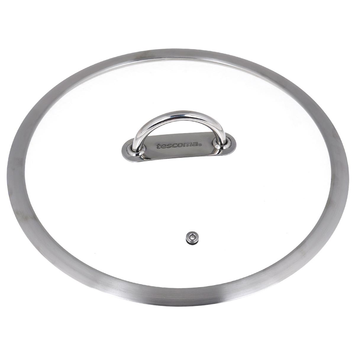 Крышка стеклянная Tescoma Vision. Диаметр 26 см779826Крышка Tescoma Vision изготовлена из термостойкого стекла. Обод, выполненный из высококачественной нержавеющей стали, защищает крышку от повреждений. Удобная, ненагревающаяся ручка также выполнена из нержавеющей стали. Изделие оснащено пароотводом. Крышка удобна в использовании и позволяет контролировать процесс приготовления пищи. Можно мыть в посудомоечной машине.