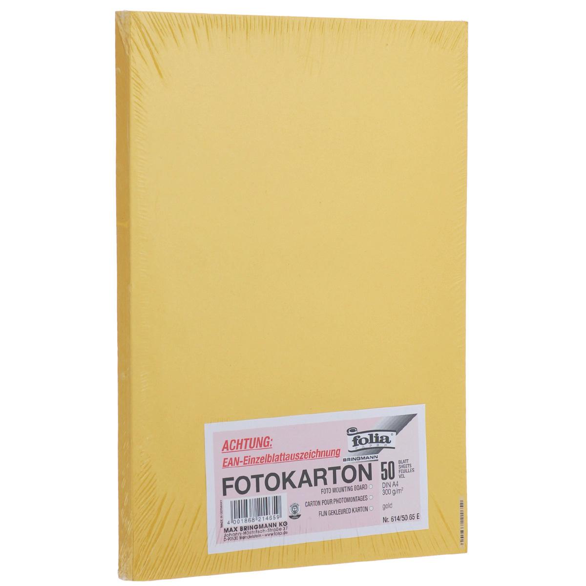 Фотокартон Folia, цвет: золото, 21 х 30 см, 50 листов. 7708058_65Е7708058_65ЕФотокартон Folia - это цветной плотный картон. Используется для изготовления открыток, пригласительных, для скрапбукинга, для изготовления паспарту и других декоративных или дизайнерских работ.