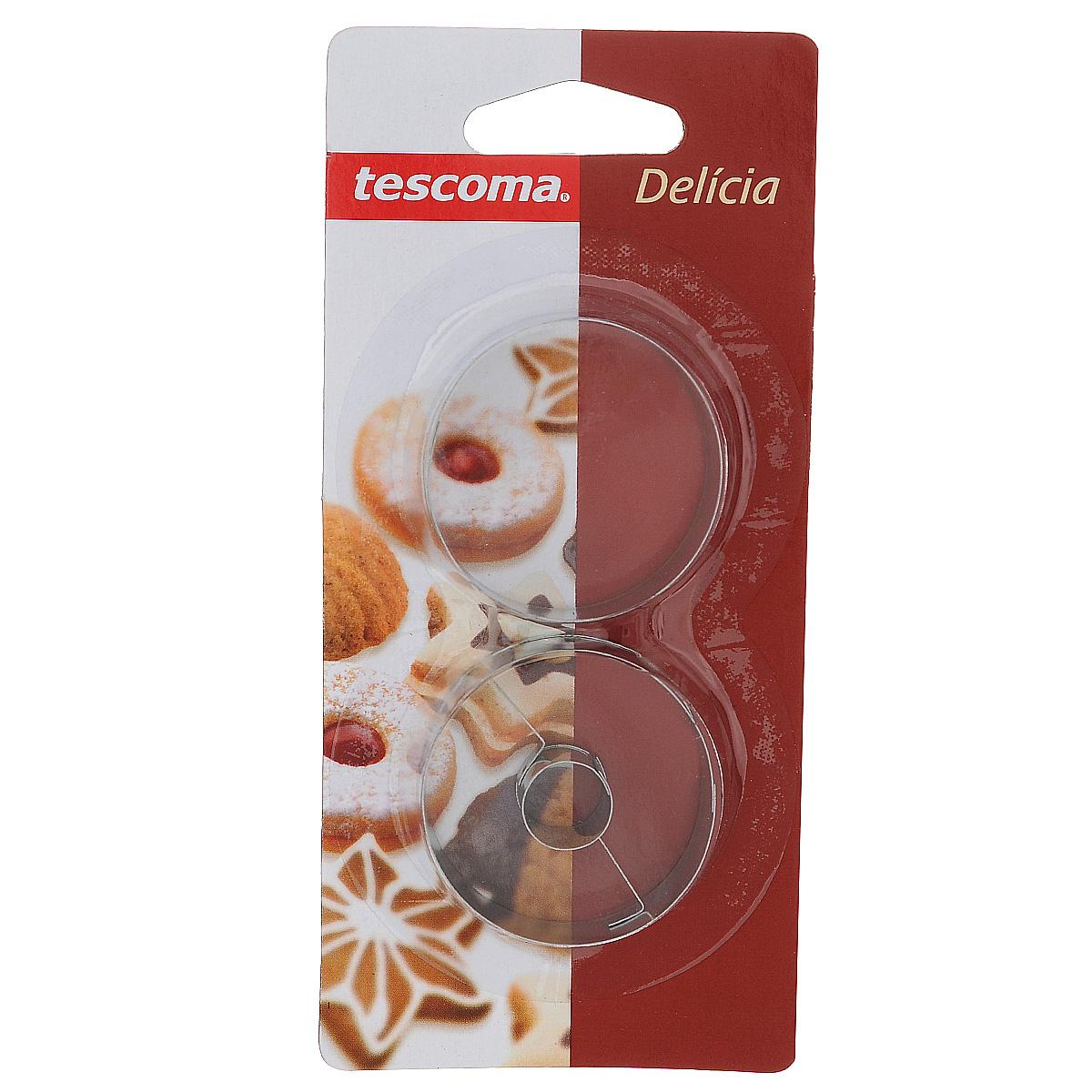 Набор форм для выпечки Tescoma Delicia, 2 предмета631172Набор Tescoma Delicia включает 2 формы для выпечки, выполненные из нержавеющей стали. Изделия имеют круглую форму и идеально подходят для приготовления печенья или пирожных. Одна формочка предназначена для приготовления печенья с начинкой. Оригинальный набор позволит приготовить выпечку по вашему любимому рецепту, но в оригинальном оформлении, которое придется по душе всей семье. Не мыть в посудомоечной машине.