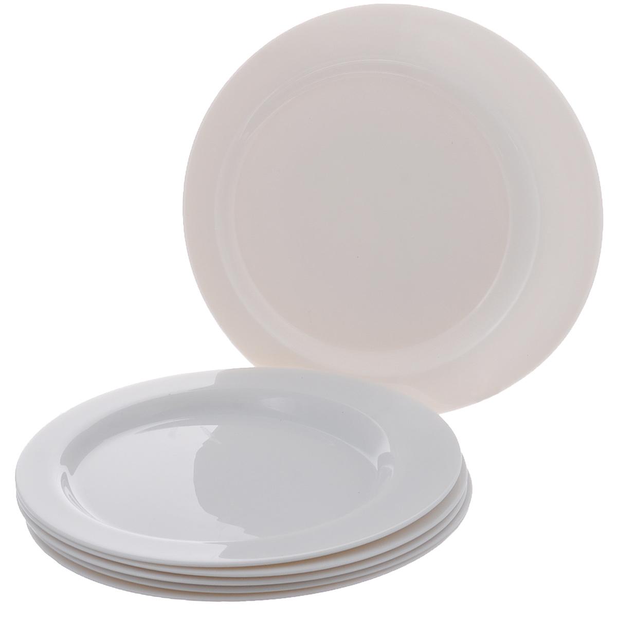 Набор обеденных тарелок Bormioli Rocco Cometa, диаметр 27 см, 6 шт441110F27321990Набор Bormioli Rocco Cometa состоит из 6 обеденных тарелок, изготовленных из упрочненного стекла с покрытием белого цвета. Набор Bormioli Rocco Cometa красиво оформит сервировку стола и станет прекрасным дополнением к коллекции вашей посуды.