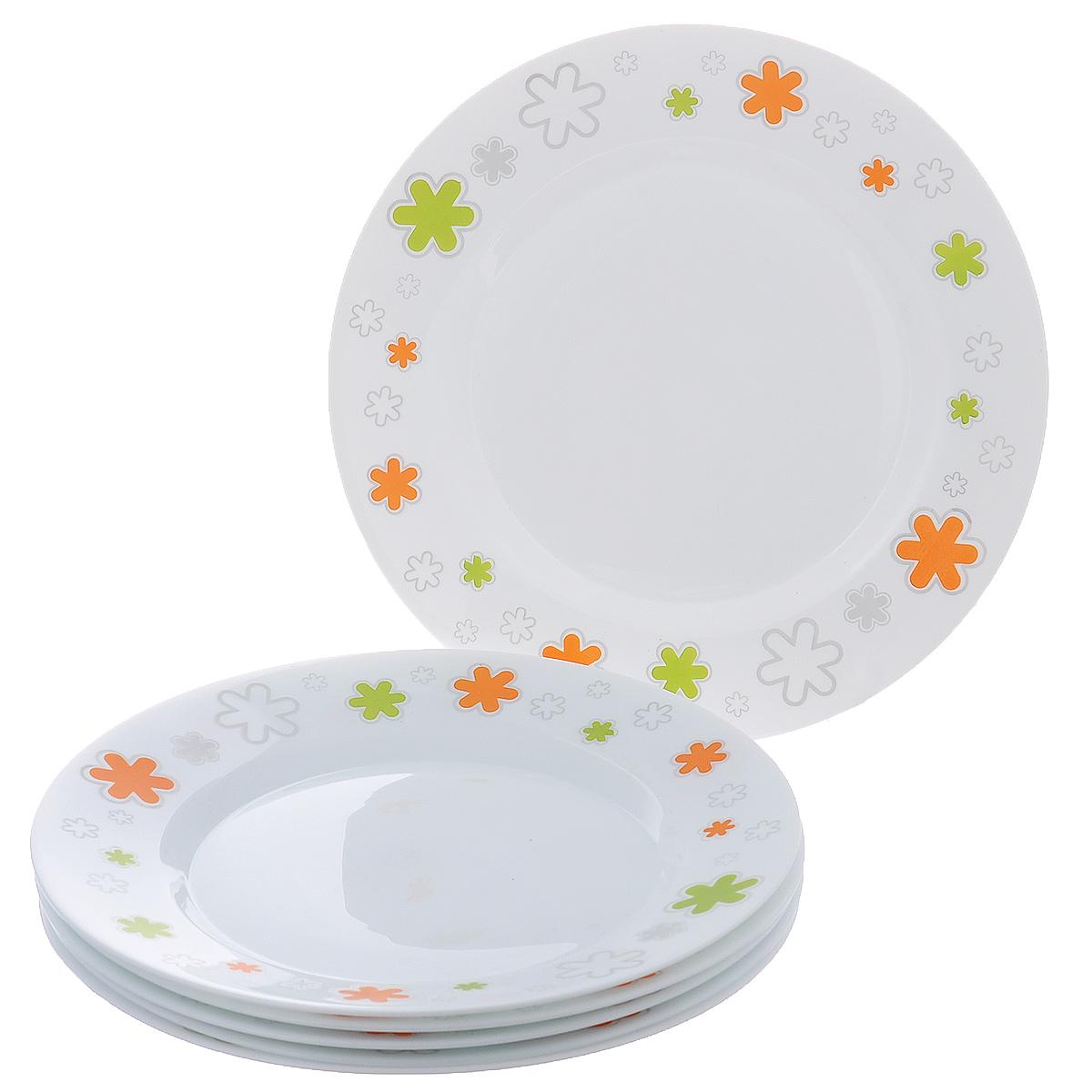 Набор мелких тарелок Bormioli Rocco Fun Verde, цвет: белый, диаметр 25 см, 6 шт