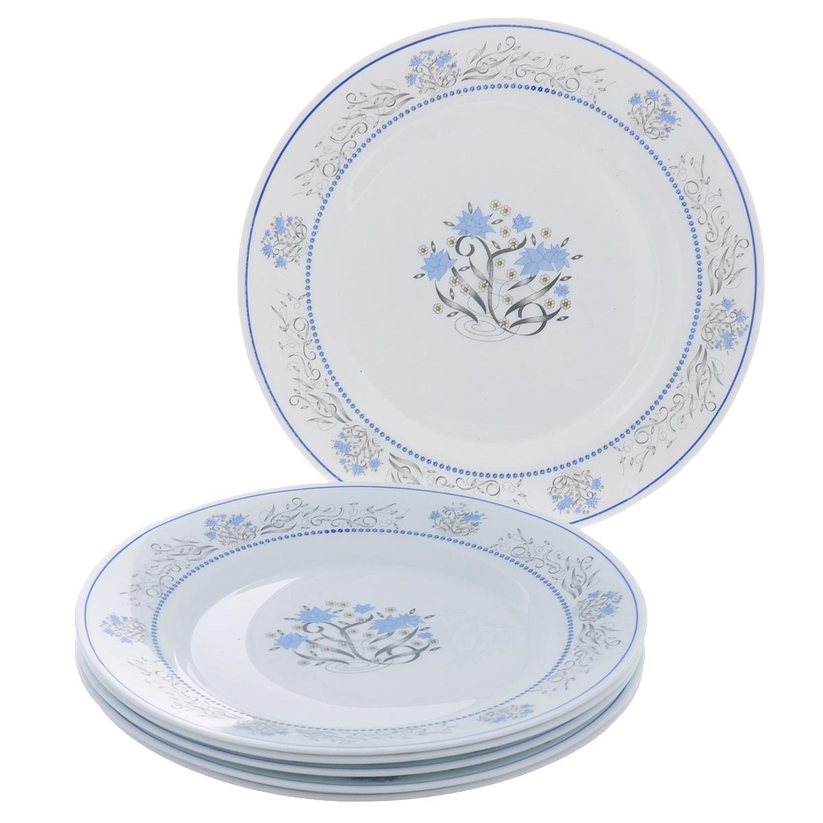 Набор обеденных тарелок Bormioli Rocco Exotique, диаметр 25 см, 6 шт