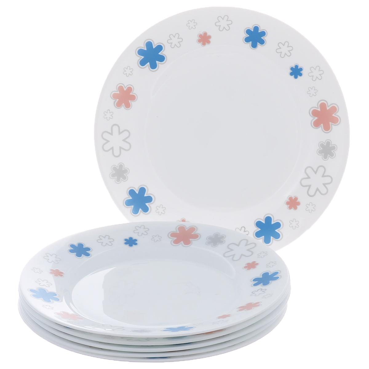 Набор мелких тарелок Bormioli Rocco Fun Fucsia, цвет: белый, диаметр 20 см, 6 шт400812FN9321379Набор Bormioli Rocco Fun Fucsia, выполненный из высококачественного упрочненного стекла, состоит из 6 мелких тарелок. Тарелки оформлены изображением цветов. Они сочетают в себе изысканный дизайн с максимальной функциональностью. Оригинальность оформления тарелок придется по вкусу и ценителям классики, и тем, кто предпочитает утонченность и изящность. Набор тарелок послужит отличным подарком к любому празднику.