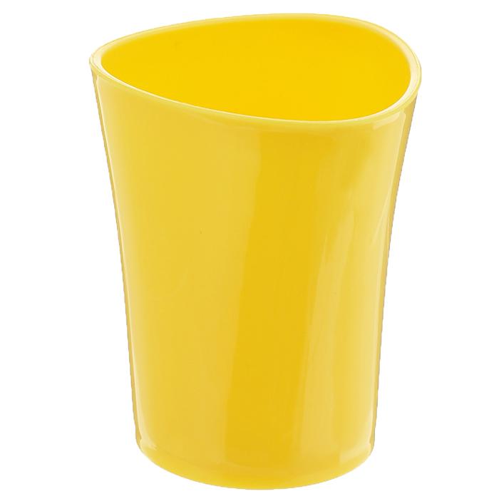 Стаканчик для зубных щеток Duschy Wiki Yellow, цвет: желтый. 357-01357-01