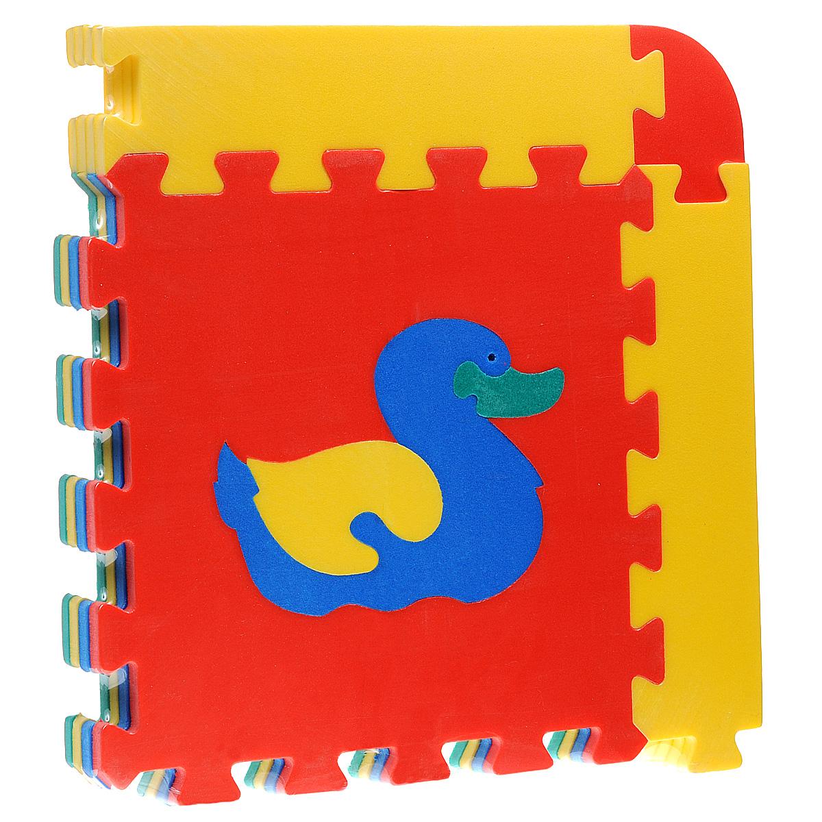 Коврик-пазл Животные, 4 элемента45428Коврик-пазл Животные