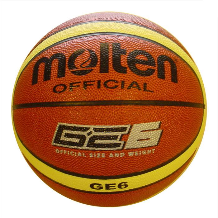 "Molten Мяч баскетбольный Molten ""GE6"", цвет: оранжевый. Размер 6"