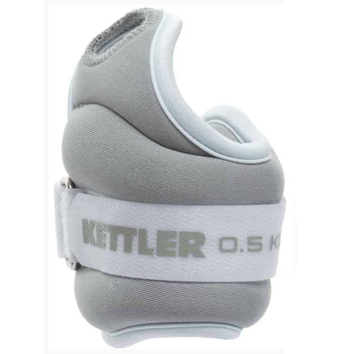 Kettler Утяжелитель для рук Kettler, цвет: голубой, серый, 2 х 0,5 кг