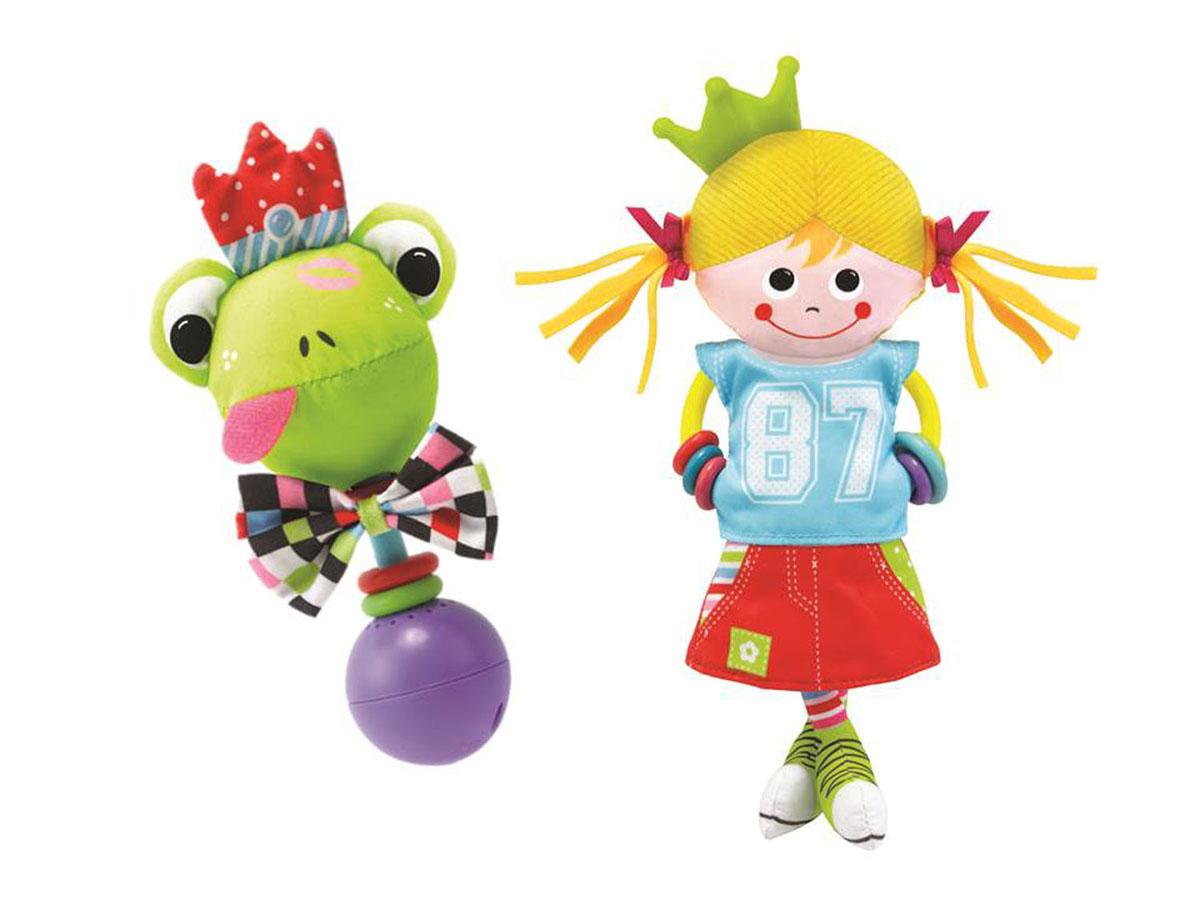 Игрушка-погремушка Yookidoo Девочка в городе40131Игрушка Yookidoo Девочка в городе - первая игрушка вашего малыша - выполнена в ярком и красочном дизайне, который обязательно понравится малышке. Ребенок будет с удовольствием рассматривать свою первую и очень забавную игрушку. Игрушка изготовлена из материалов различной текстуры и безопасного пластика. К девочке крепится прорезыватель с разноцветными колечками, который непременно понадобится для прорезывающихся зубиков крохи. В комплект с игрушкой входит музыкальная погремушка Лягушка, если ее встряхнуть, звучат смешные звуки. Различные элементы девочки и лягушки шуршат при прикосновении. К игрушкам прилагаются два пластиковых кольца для подвешивания. С такой игрушкой малыш разовьет мелкую моторику рук, тактильные ощущения, слуховое восприятие. Необходимо докупить 3 батарейки типа LR44 (V13GA, AG13, LR1154).