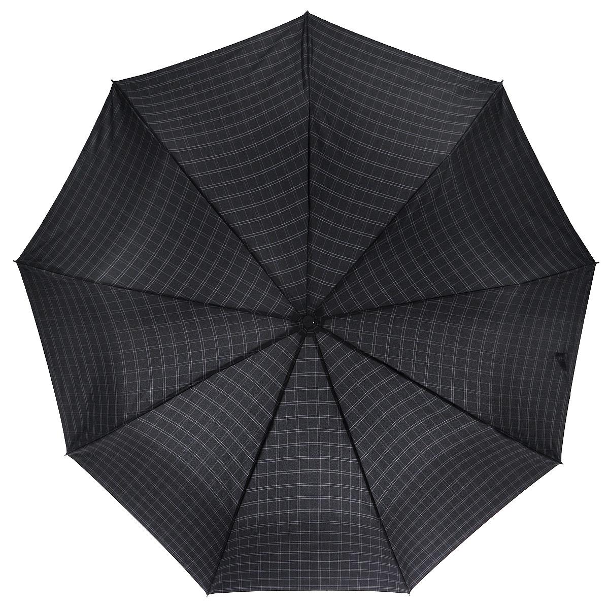 Зонт мужской Zest, автомат, 3 сложения, цвет: черный. 13943-3 зонт мужской  zest   автомат  3
