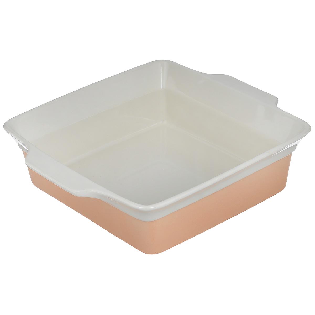 Форма для выпечки Mayer & Boch, прямоугольная, цвет: персиковый, бежевый, 3,4 л21817Прямоугольная форма для выпечки Mayer & Boch изготовленная из жаропрочной керамики, подходит для любого вида пищи. Элегантный дизайн идеально подходит для современного дома. Изделия из керамики идеально подходят как для приготовления пищи, так и для подачи на стол. Материал не содержит свинца и кадмия. С такой формой вы всегда сможете порадовать своих близких оригинальным блюдом. Кастрюлю можно использовать на газовой, электрической плите и в микроволновой печи. Можно мыть в посудомоечной машине.