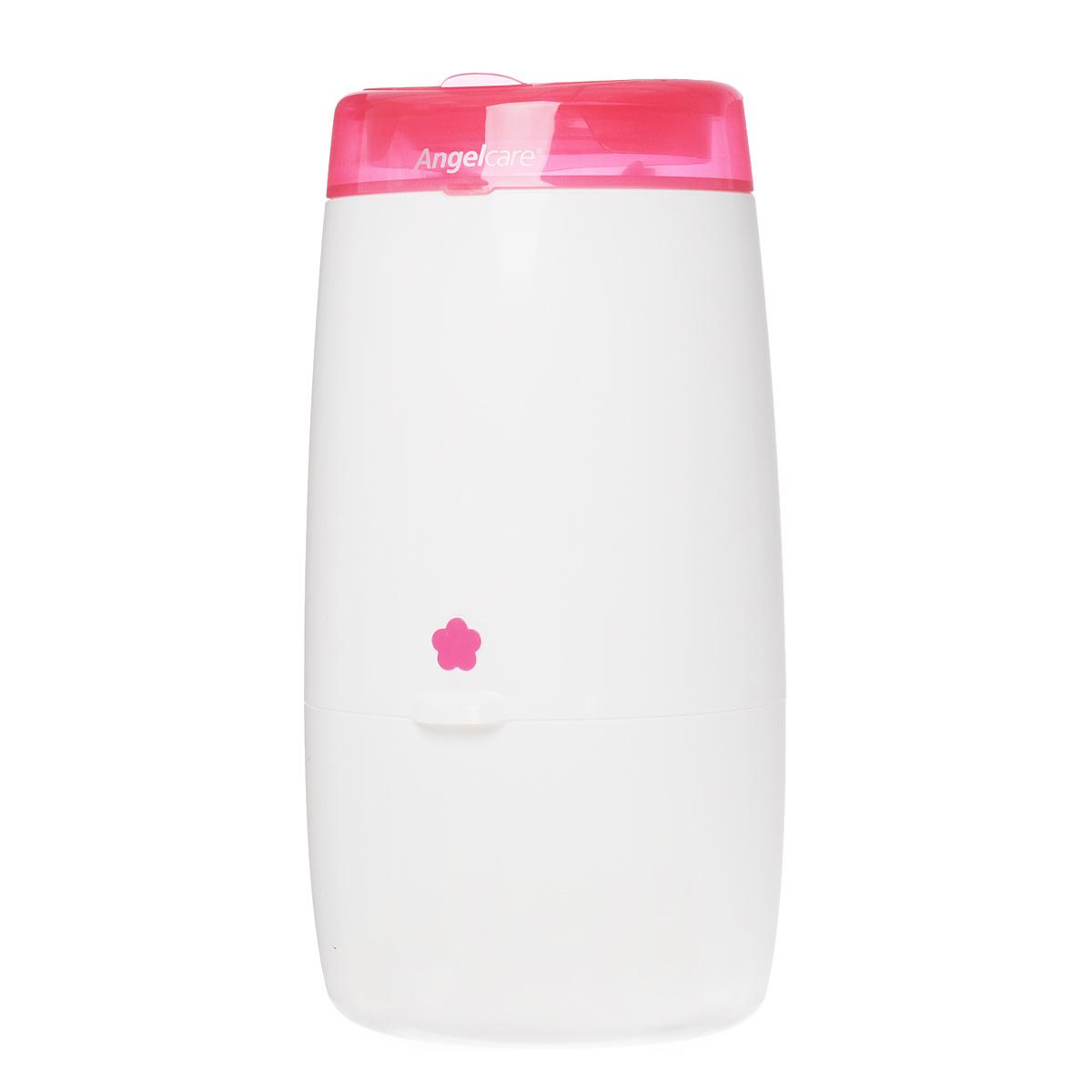 Накопитель для утилизации подгузников Angelcare Mini, цвет: белый, розовыйAD-MINI-EU-PK