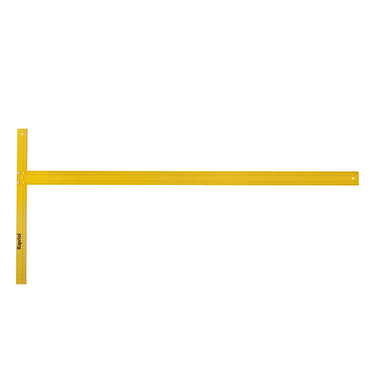 Угольник Т-образный Kapriol, алюминиевый, 120 см24Угольник измерительный Kapriol, изготовленный из высококачественного алюминия, станет незаменимым предметом для столярных работ. Предназначен для разметки и проверки взаимной перпендикулярности поверхностей. На инструменте расположена таблица перевода величин.