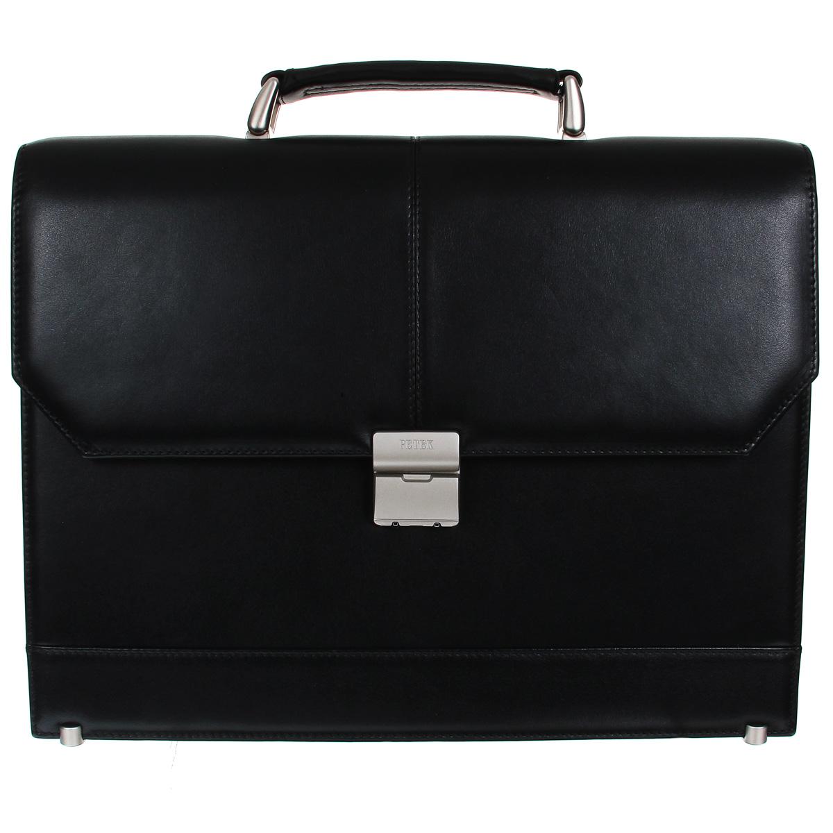 """Портфель мужской """"Petek"""", цвет: черный. 791.000.01 Petek 1855 791.000.01 Black"""