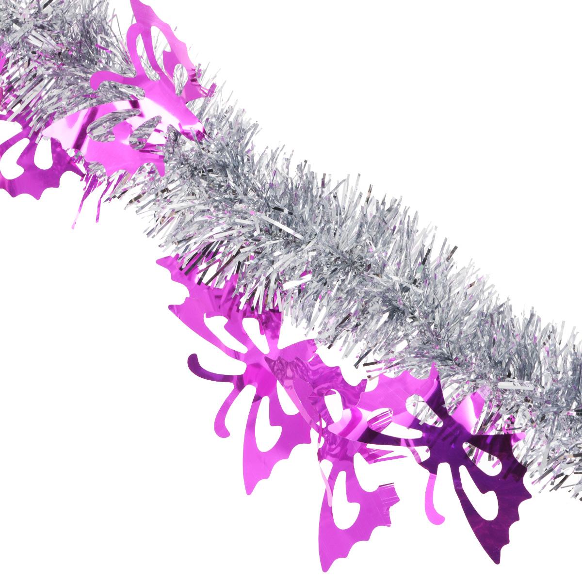 Мишура новогодняя Sima-land, цвет: серебристый, фиолетовый, диаметр 5 см, длина 200 см825981Мишура новогодняя Sima-land, выполненная из двухцветной фольги, поможет вам украсить свой дом к предстоящим праздникам. Мишура армирована, то есть имеет проволоку внутри и способна сохранять приданную ей форму. Новогодняя елка с таким украшением станет еще наряднее. Новогодней мишурой можно украсить все, что угодно - елку, квартиру, дачу, офис - как внутри, так и снаружи. Можно сложить новогодние поздравления, буквы и цифры, мишурой можно украсить и дополнить гирлянды, можно выделить дверные колонны, оплести дверные проемы. Мишура принесет в ваш дом ни с чем несравнимое ощущение праздника! Создайте в своем доме атмосферу тепла, веселья и радости, украшая его всей семьей.