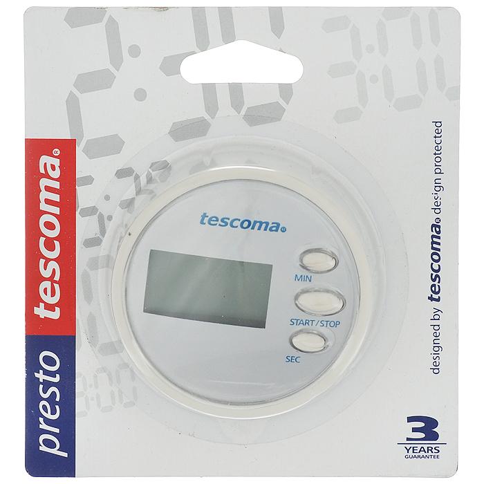 Таймер цифровой Tescoma Presto, цвет: белый, 99 минут636076белыйЦифровой таймер Tescoma Presto, изготовленный из высококачественного пластика, отлично подходит для засекания времени до 99 минут 59 секунд. Таймер отчетливо сигнализирует истечение выбранного времени. Он оснащен магнитом для удобного размещения на кухне (например, на холодильнике). Такой прибор придется по душе каждой хозяйке и станет незаменимым аксессуаром на кухне. Диаметр таймера: 6,5 см. Толщина корпуса: 3,5 см. Работает от 1 батарейки типа ААА (входит в комплект).
