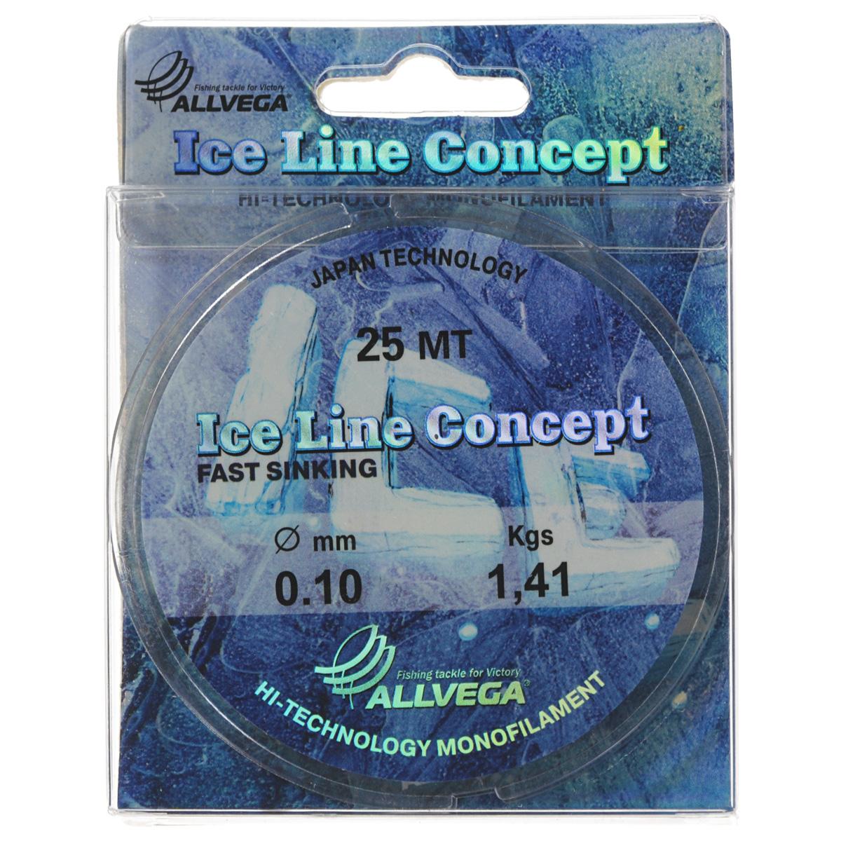 Леска Allvega Ice Line Concept, сечение 0,1 мм, длина 25 м36162Специальная зимняя леска Allvega Ice Line Concept для низких температур. Прозрачная и высокопрочная. Отсутствие механической памяти, позволяет с успехом использовать ее для ловли на мормышку.