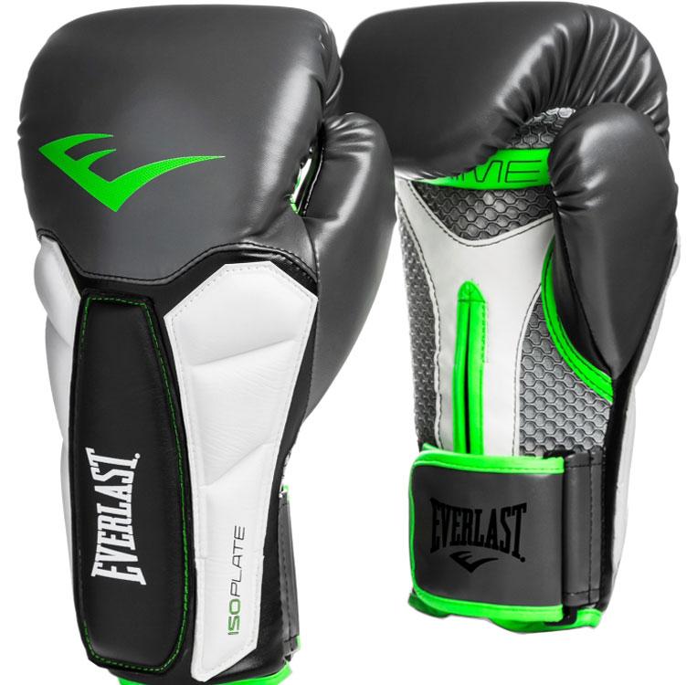 """Перчатки тренировочные Everlast """"Prime"""", цвет: серый, зеленый, 16 унций"""