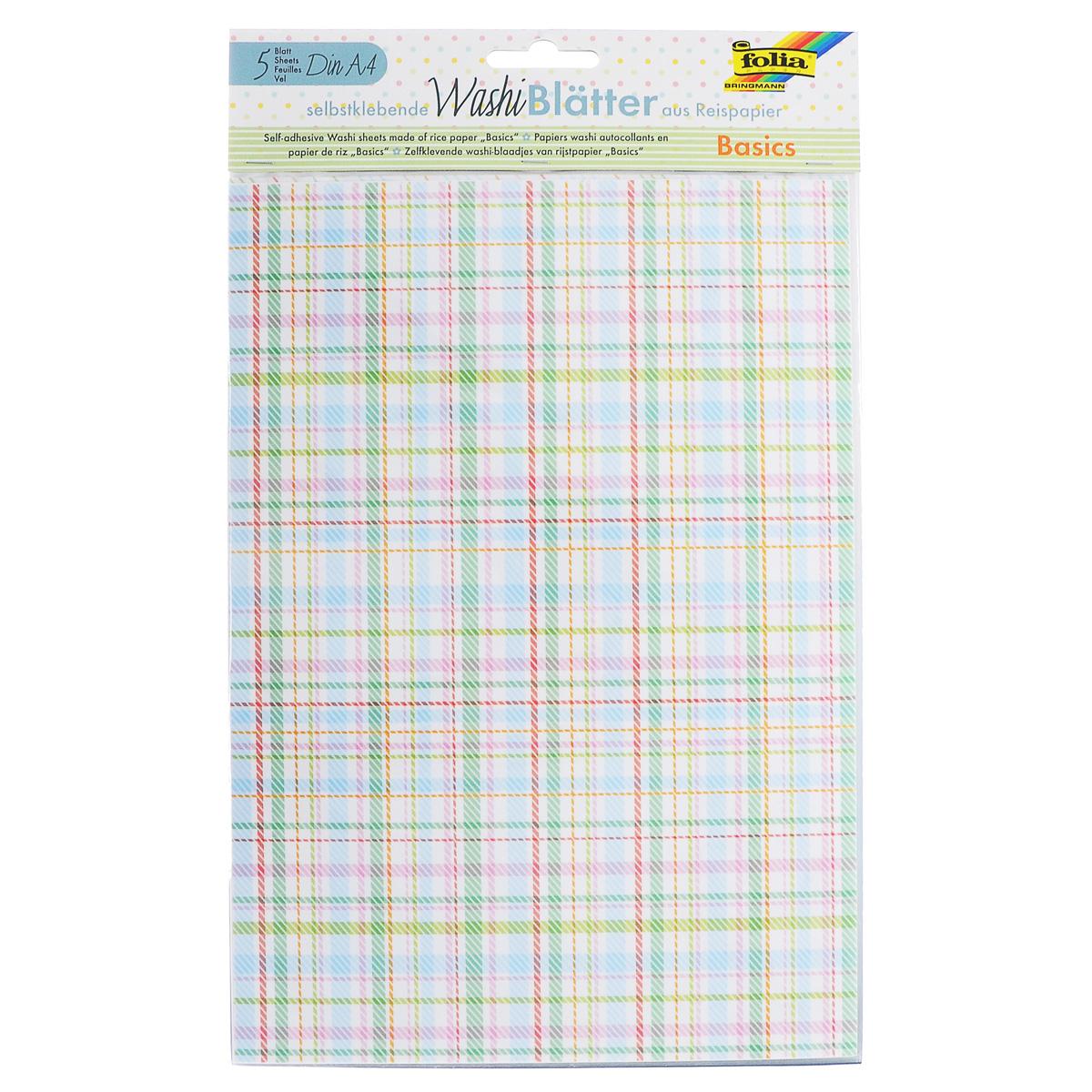 Рисовая бумага Folia Полосы и точки, самоклеящаяся, 29,5 x 21 см, 5 листов7707990Рисовая бумага Folia Полосы и точки - бумага с матовой поверхностью, которая используется для изготовления открыток, для скрапбукинга и других декоративных или дизайнерских работ. Бумага декорирована изображениями точек и линий. Она имеет самоклеящуюся пленку, позволяющую удаление и повторное приклеивание, что обеспечивает большие творческие возможности. Изделие имеет отличное сцепление с бумагой, обоями, тканью и гладкими поверхностями, такими как металл, стекло и т.д. без специальной подготовки.