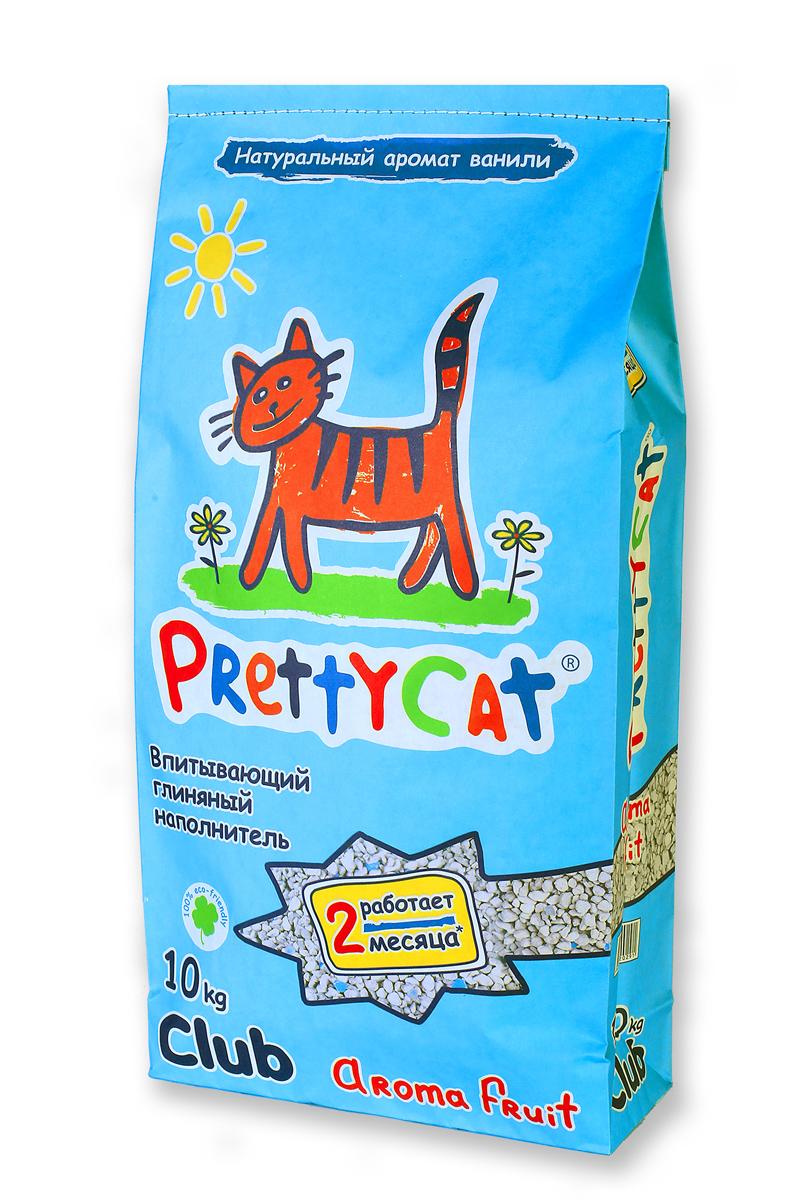 Наполнитель для кошачьих туалетов PrettyCat Aroma Fruit, с део-кристаллами, 10 кг620260_10 кгНаполнитель для кошачьих туалетов PrettyCat Aroma Fruit - это впитывающий глиняный наполнитель. Изготовлен из высококачественной цеолит глины, део-кристаллов, натуральных пищевых арома-масел. Это абсолютно экологически чистый продукт. Натуральные пищевые ароматизаторы с ароматом тропических фруктов и ванили безопасны для вашей кошки. От ее лапок всегда будет вкусно пахнуть ванилью. Глиняные гранулы прекрасно впитывают жидкость, предотвращают размножение бактерий и обеспечивают обеспыливание. Особые део-кристаллы устраняют запах, оставляя только фруктовый аромат. Благодаря новой формуле одной пачки хватает до 2-х месяцев. Антибактериален. Впитывающий глиняный наполнитель нравится абсолютно всем кошкам и их хозяевам.
