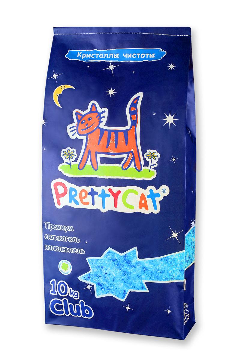 """Наполнитель для кошачьих туалетов PrettyCat """"Кристаллы чистоты"""", силикагелевый, 10 кг 620239"""